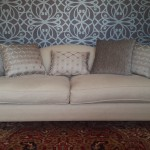 Kravet fabrics giving new life for a superb chippendale 3 seater
